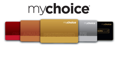 mychoice cards and logo